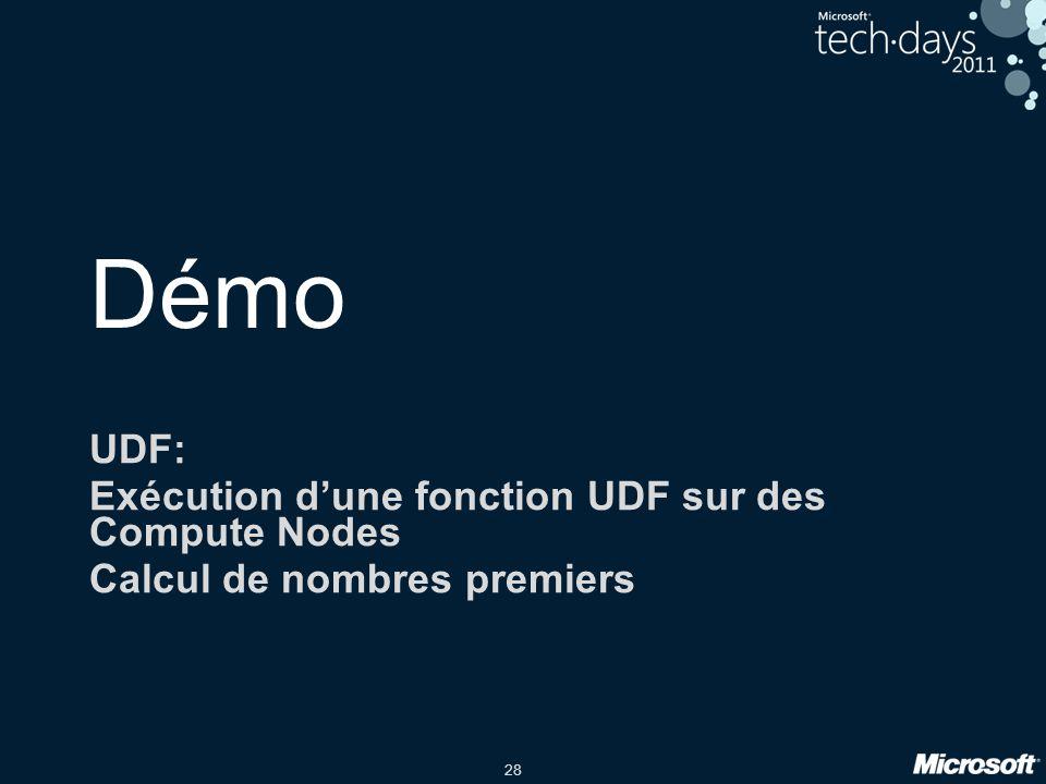 Démo UDF: Exécution d'une fonction UDF sur des Compute Nodes