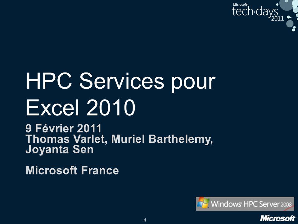 HPC Services pour Excel 2010