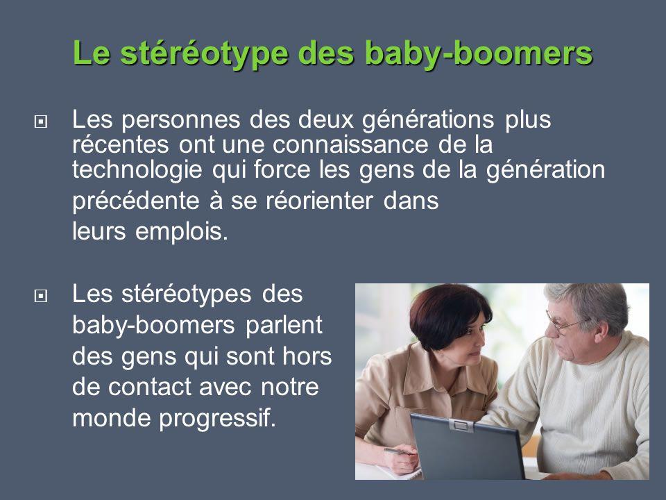 Le stéréotype des baby-boomers