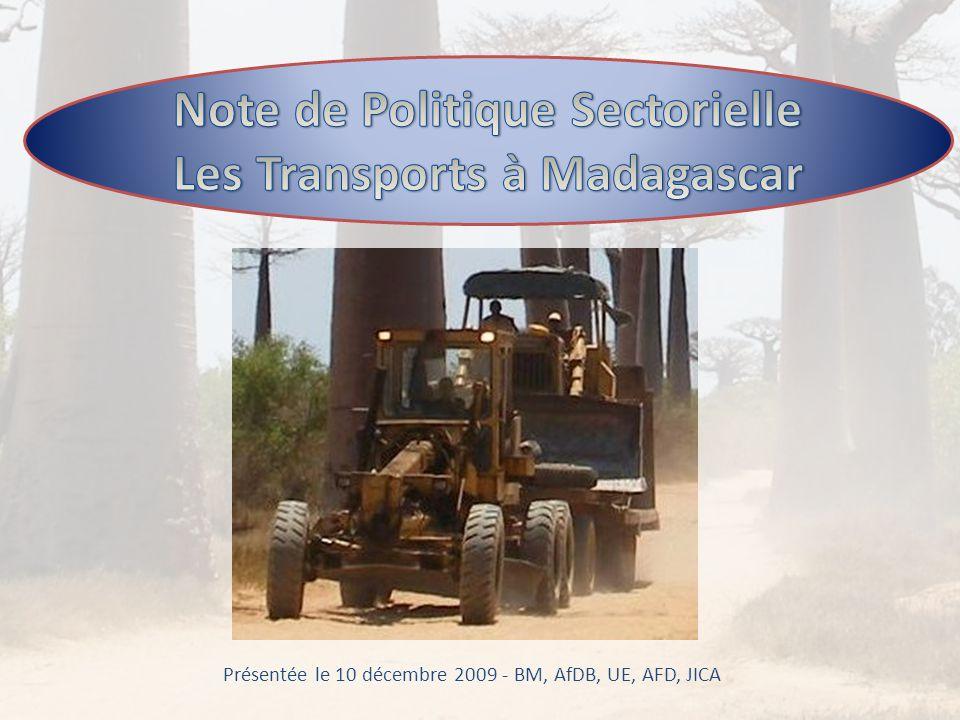 Note de Politique Sectorielle Les Transports à Madagascar