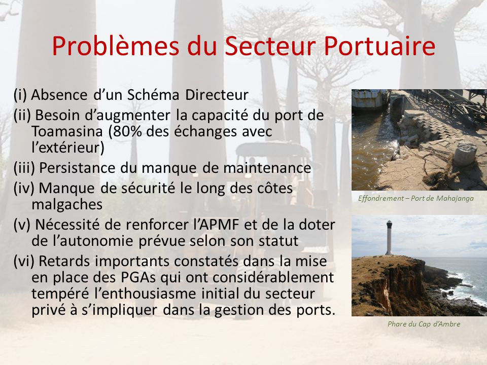 Problèmes du Secteur Portuaire