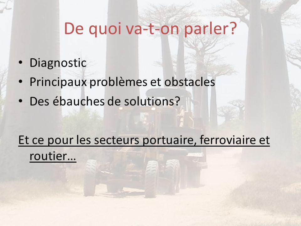 De quoi va-t-on parler Diagnostic Principaux problèmes et obstacles