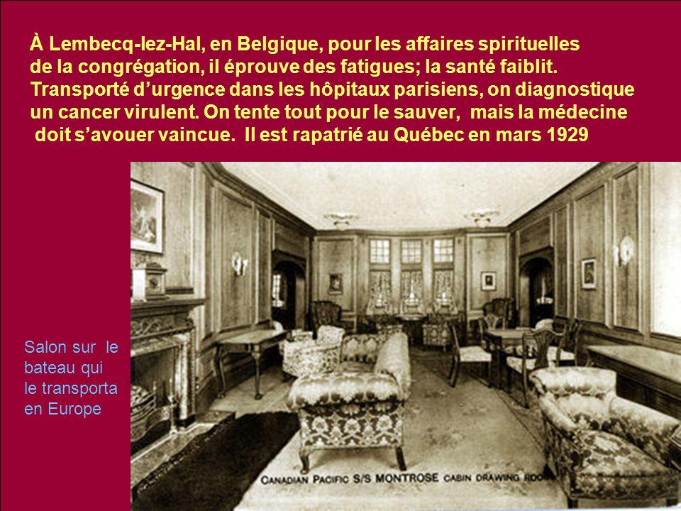 À Lembecq-lez-Hal, en Belgique, pour les affaires spirituelles