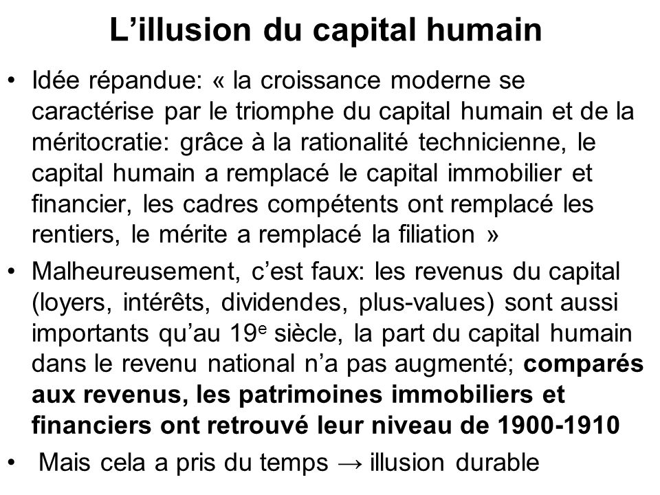 L'illusion du capital humain
