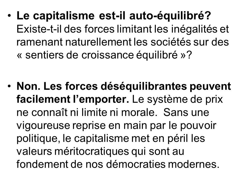 Le capitalisme est-il auto-équilibré