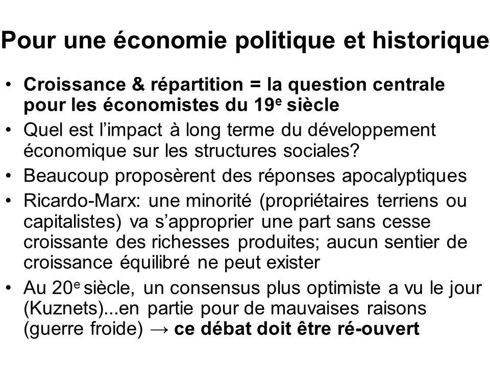 Pour une économie politique et historique