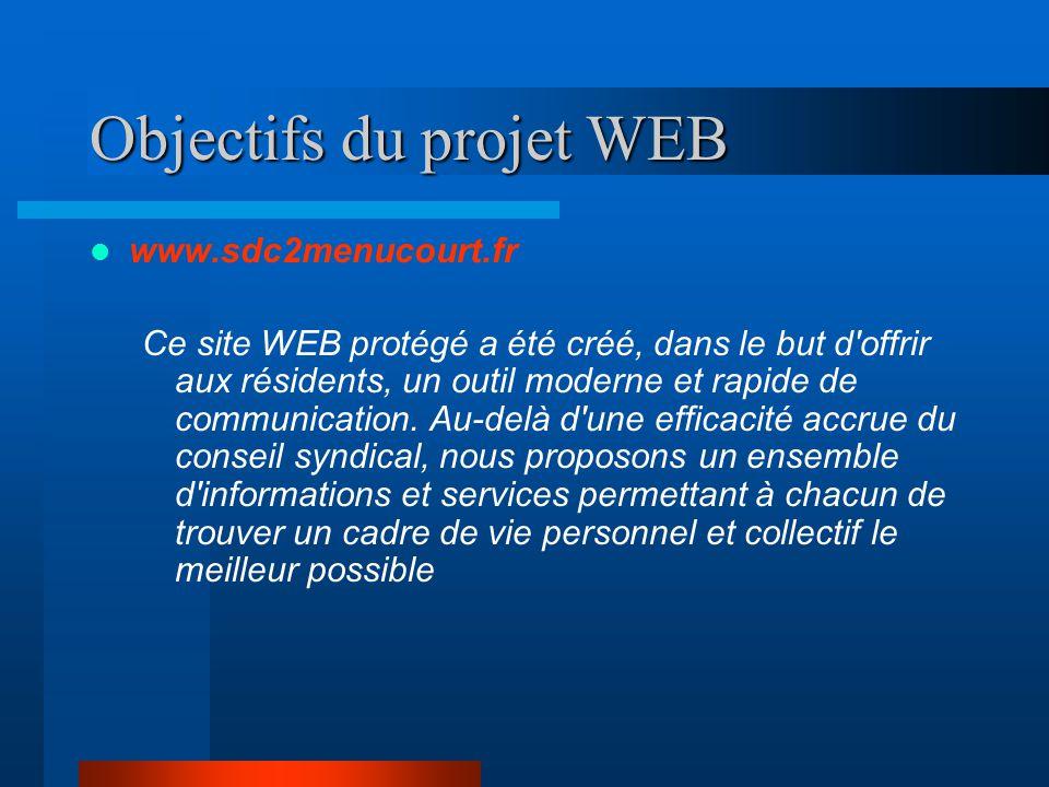 Objectifs du projet WEB