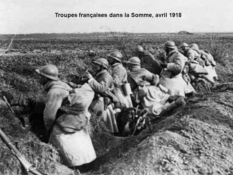 Troupes françaises dans la Somme, avril 1918