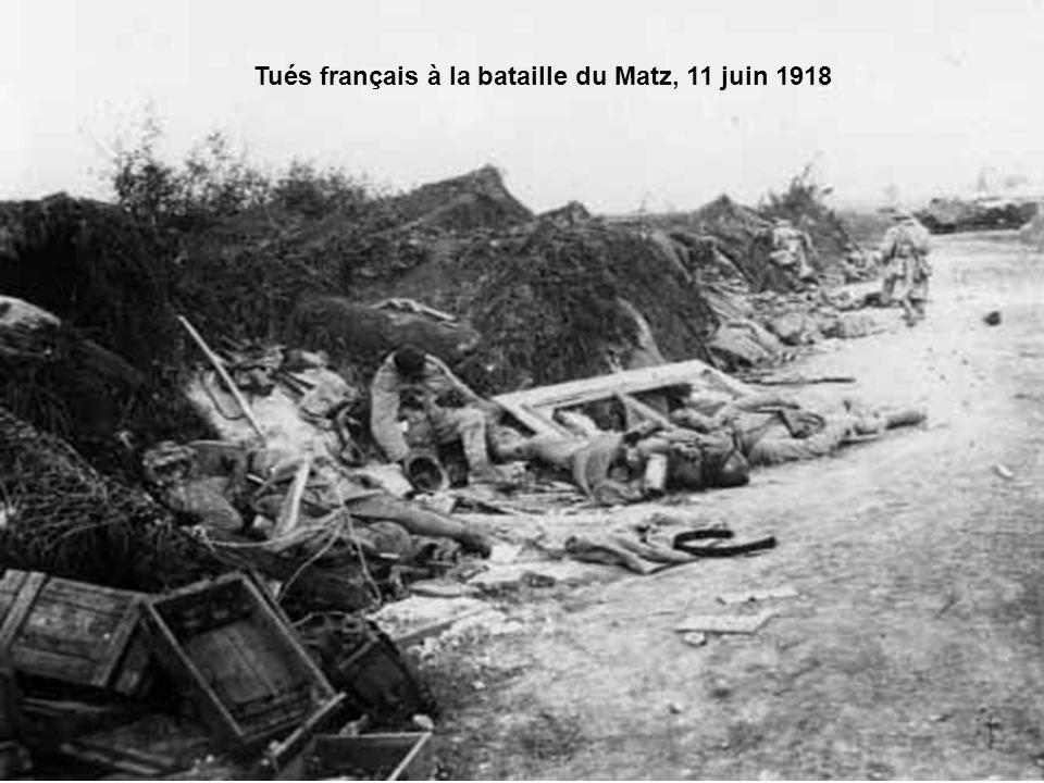 Tués français à la bataille du Matz, 11 juin 1918