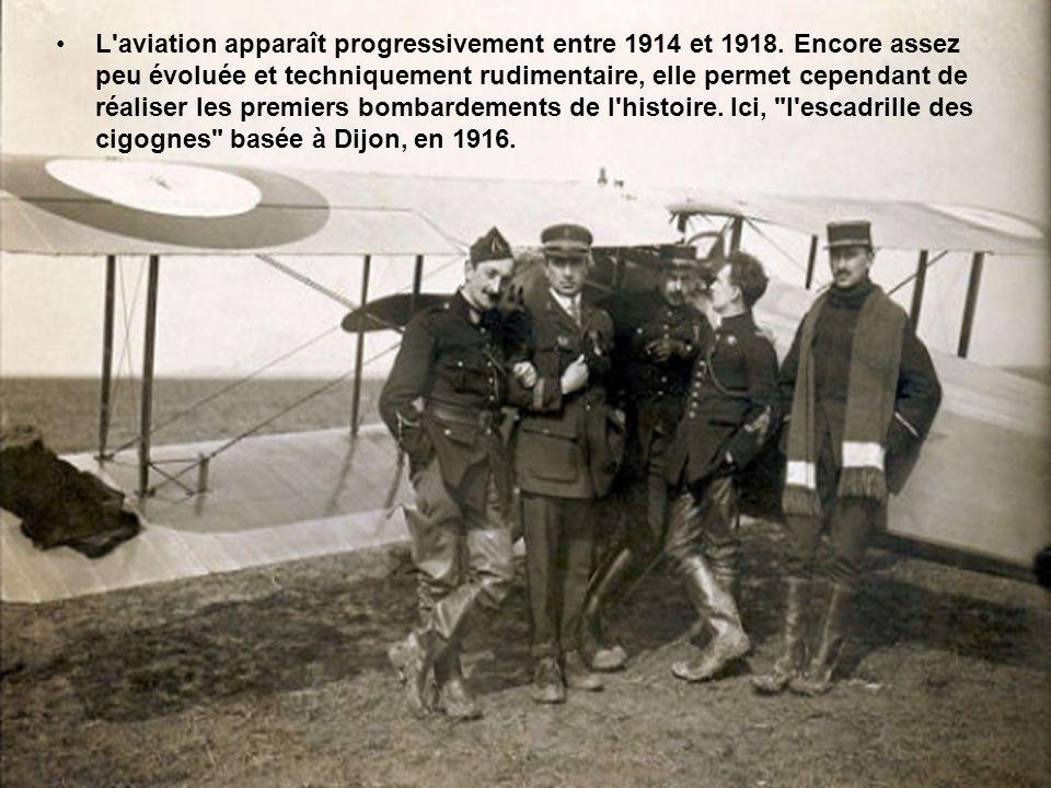 L aviation apparaît progressivement entre 1914 et 1918