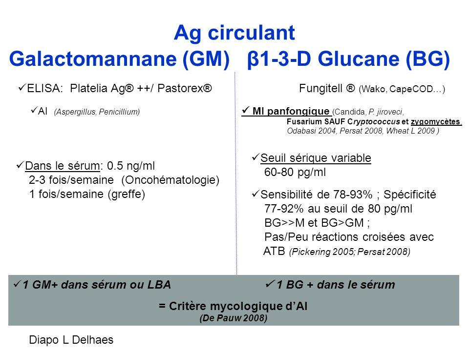 = Critère mycologique d'AI (De Pauw 2008)