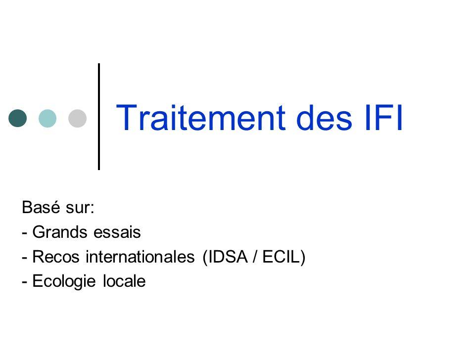 Traitement des IFI Basé sur: - Grands essais