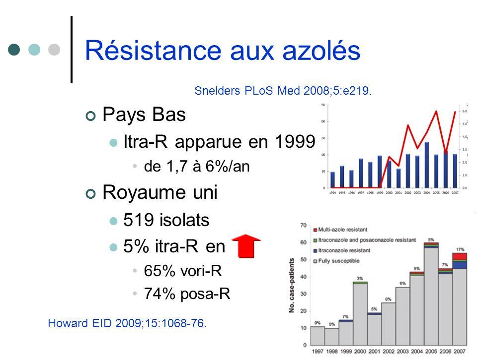 Résistance aux azolés Pays Bas Royaume uni Itra-R apparue en 1999