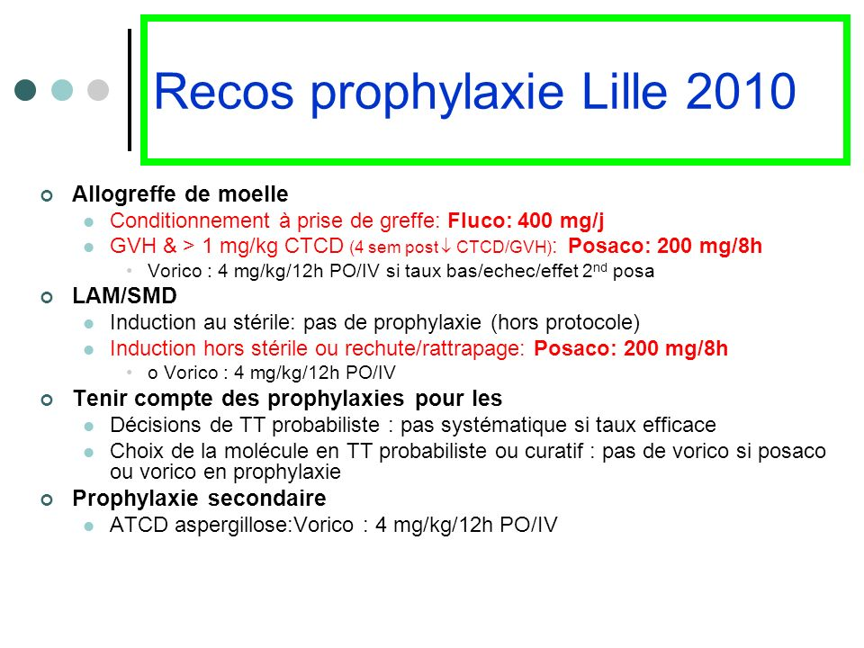 Recos prophylaxie Lille 2010