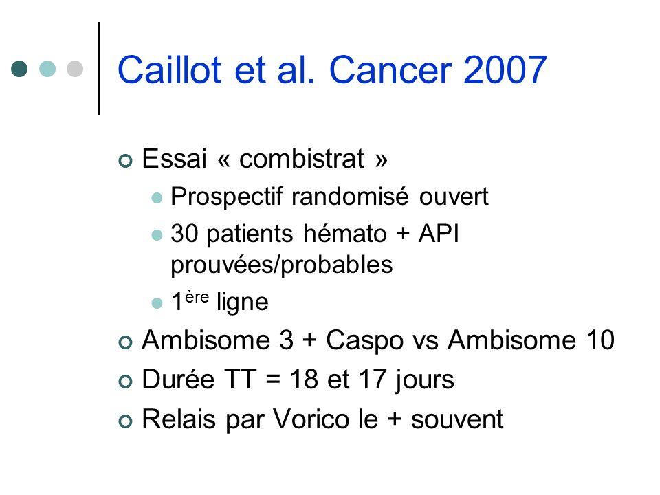 Caillot et al. Cancer 2007 Essai « combistrat »