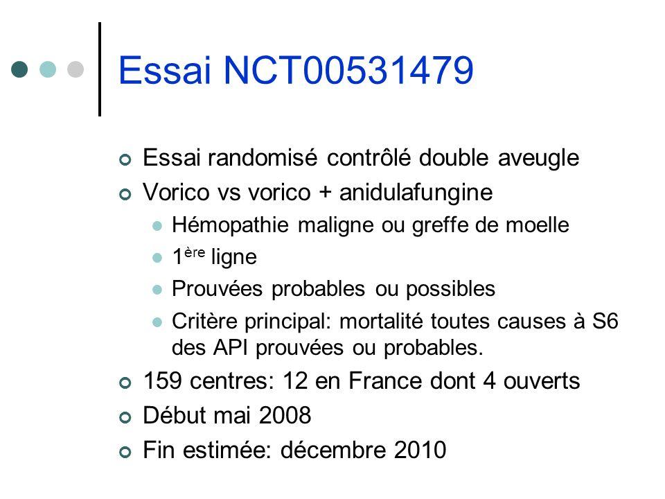 Essai NCT00531479 Essai randomisé contrôlé double aveugle