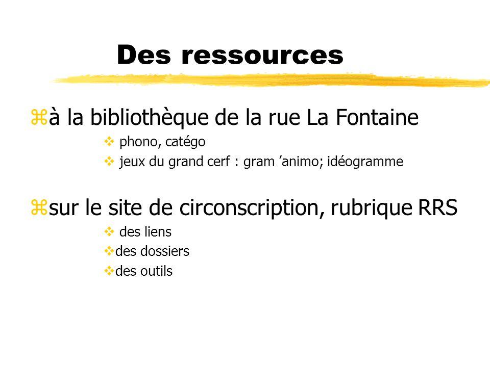Des ressources à la bibliothèque de la rue La Fontaine
