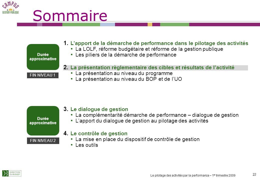 SommaireL'apport de la démarche de performance dans le pilotage des activités. La LOLF, réforme budgétaire et réforme de la gestion publique.