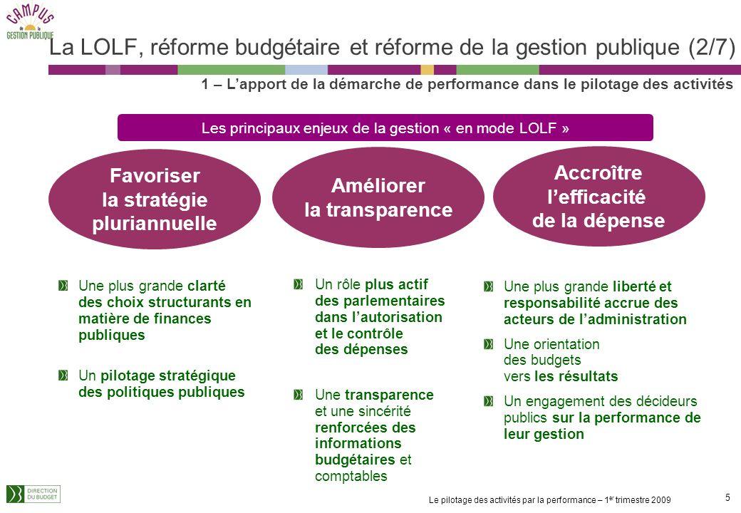 La LOLF, réforme budgétaire et réforme de la gestion publique (2/7)