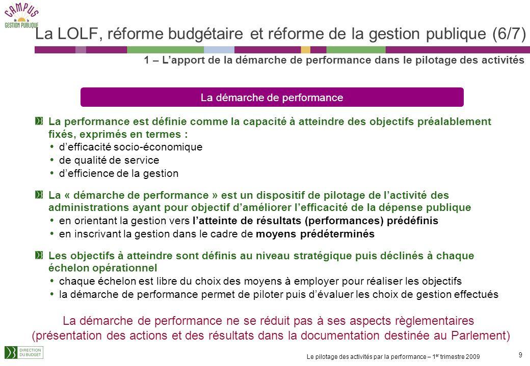 La LOLF, réforme budgétaire et réforme de la gestion publique (6/7)