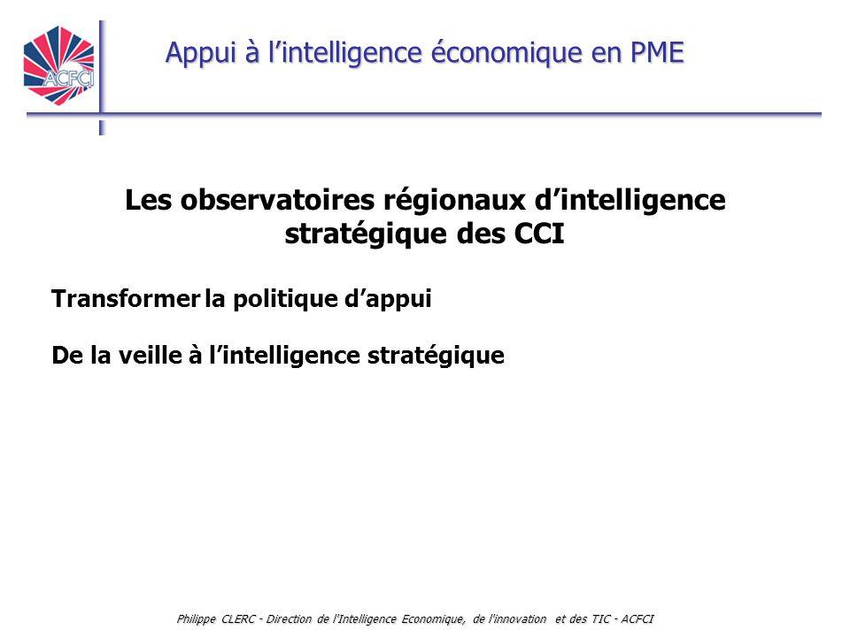 Les observatoires régionaux d'intelligence stratégique des CCI