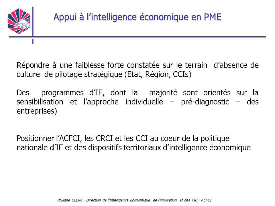 Répondre à une faiblesse forte constatée sur le terrain d'absence de culture de pilotage stratégique (Etat, Région, CCIs)