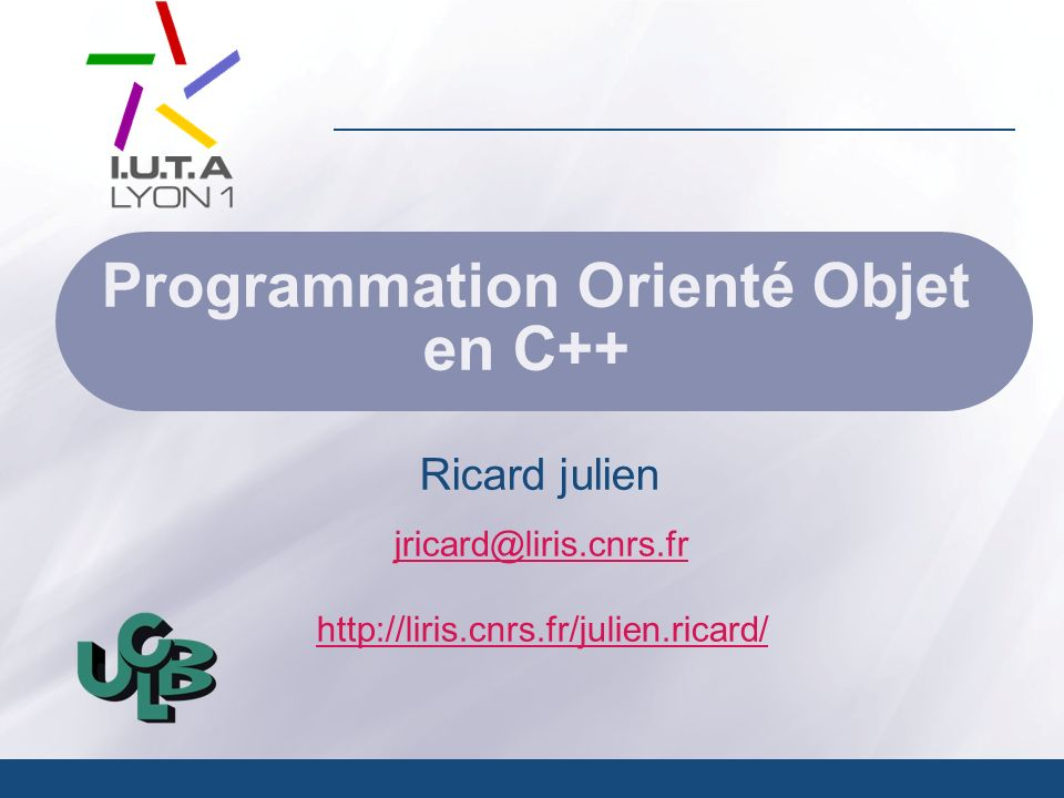 Programmation Orienté Objet en C++