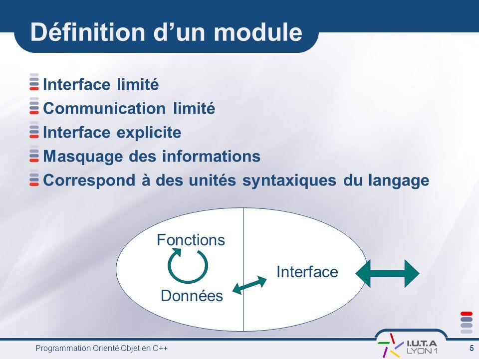 Définition d'un module