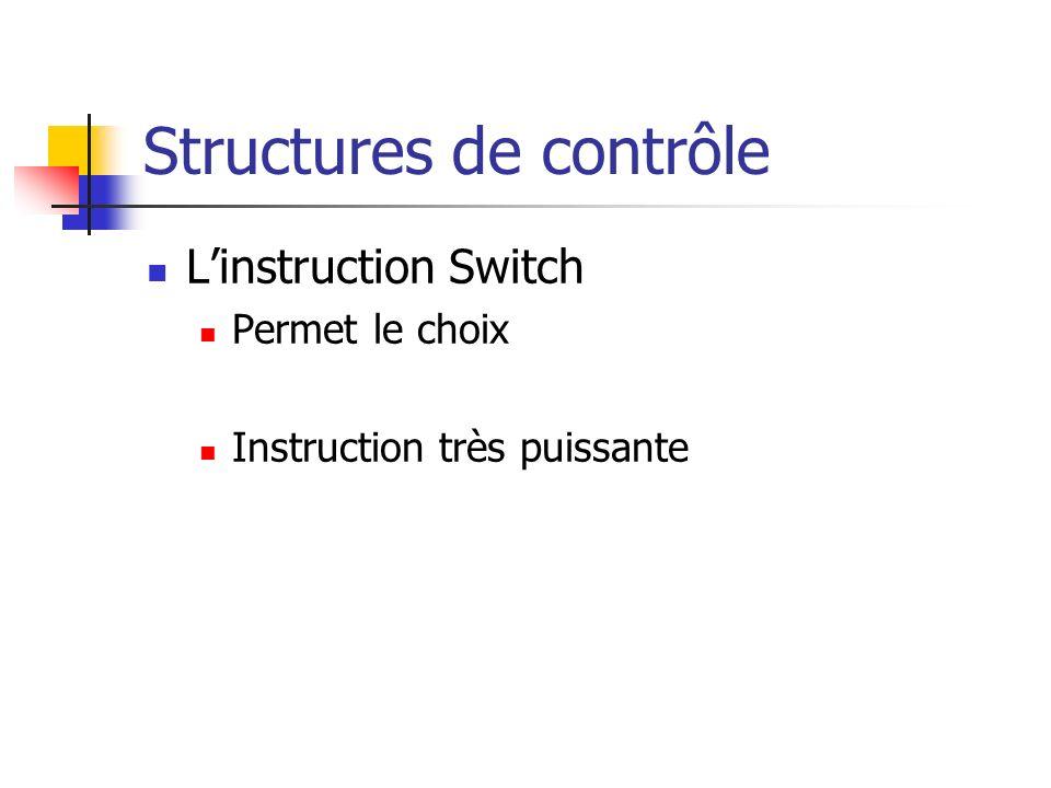 Structures de contrôle