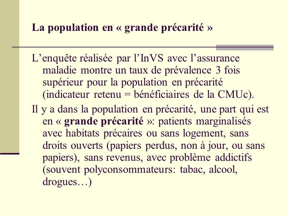 La population en « grande précarité »