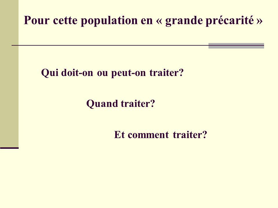 Pour cette population en « grande précarité »