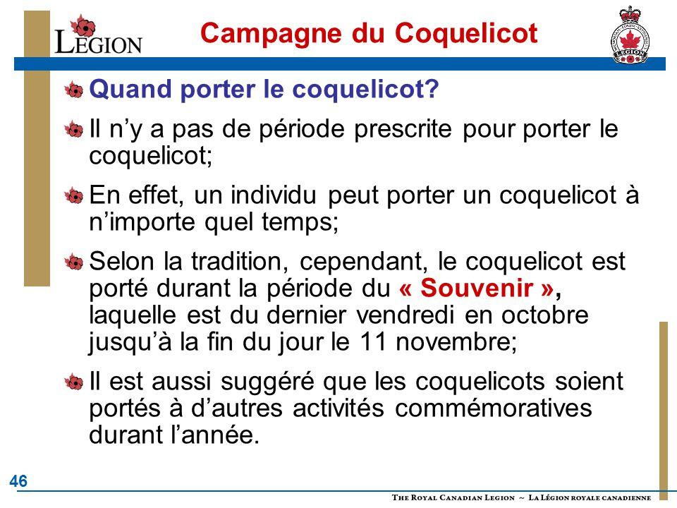 Campagne du Coquelicot