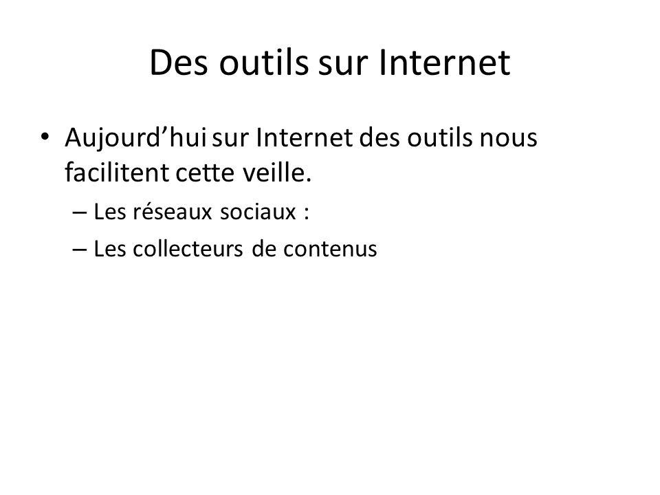 Des outils sur Internet