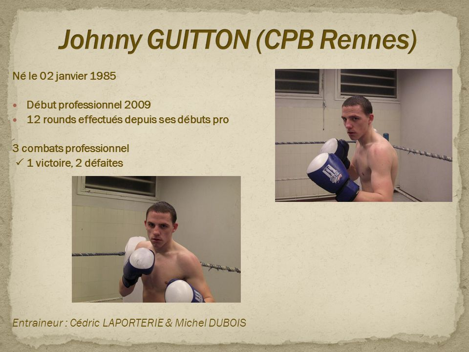 Johnny GUITTON (CPB Rennes)