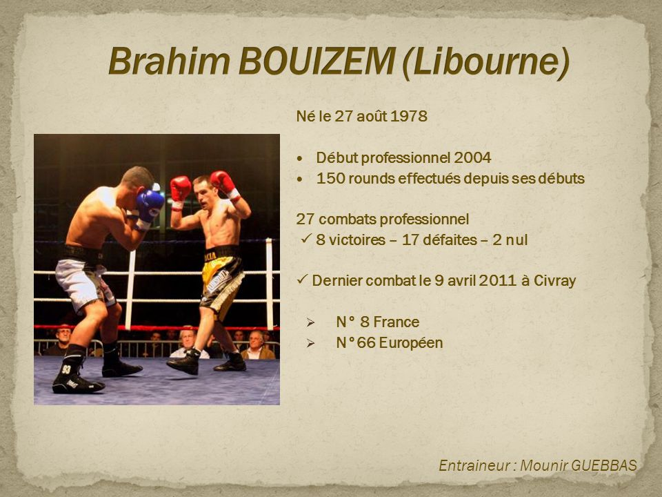 Brahim BOUIZEM (Libourne)