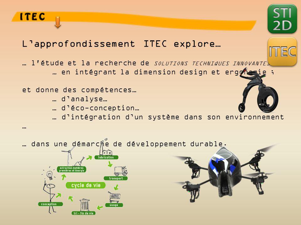 L'approfondissement ITEC explore…