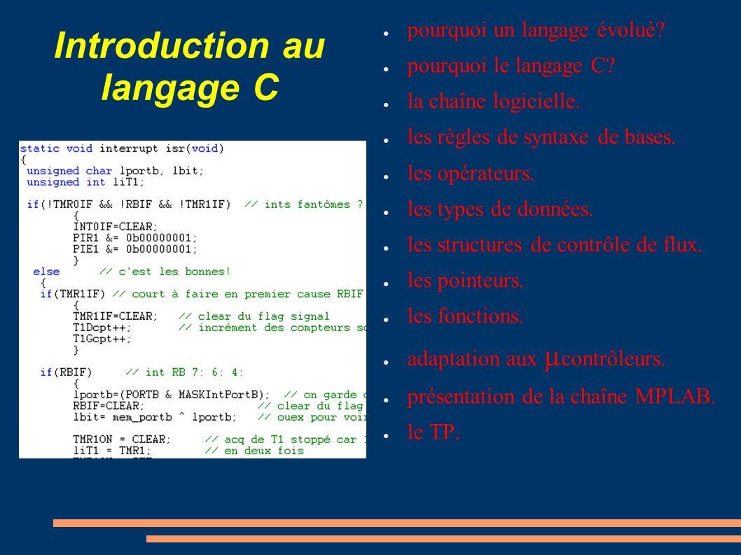 Introduction au langage C