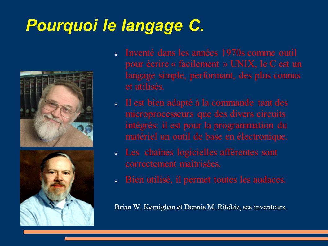 Pourquoi le langage C.