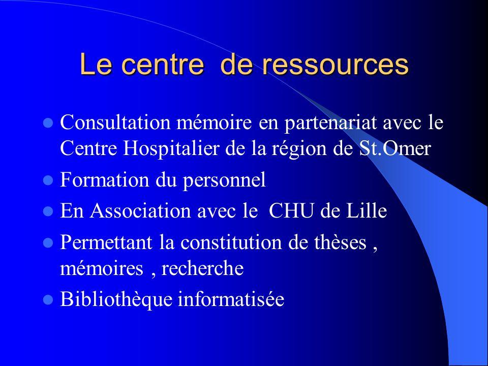 Le centre de ressources