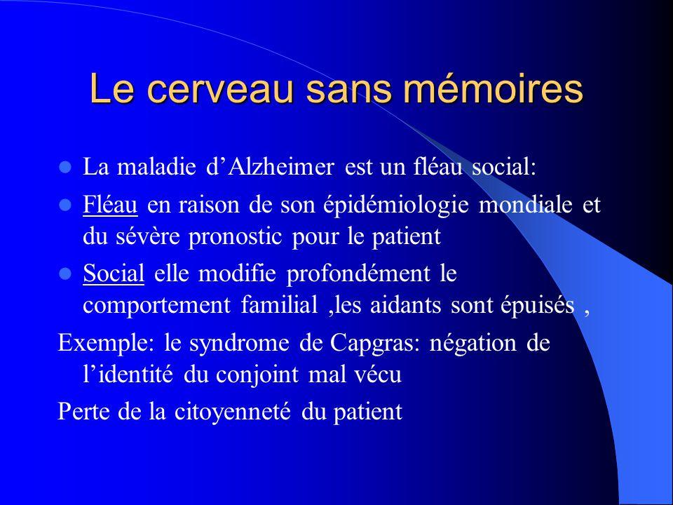 Le cerveau sans mémoires