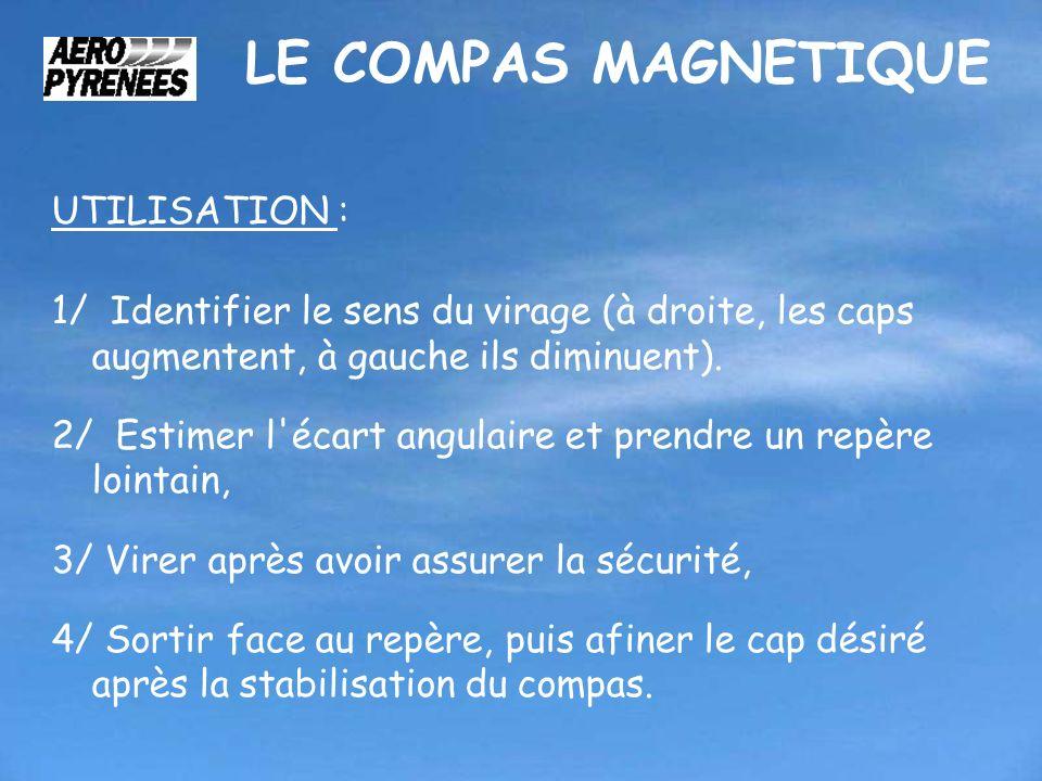 LE COMPAS MAGNETIQUE UTILISATION :