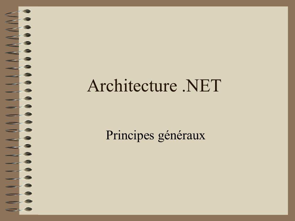 Architecture .NET Principes généraux
