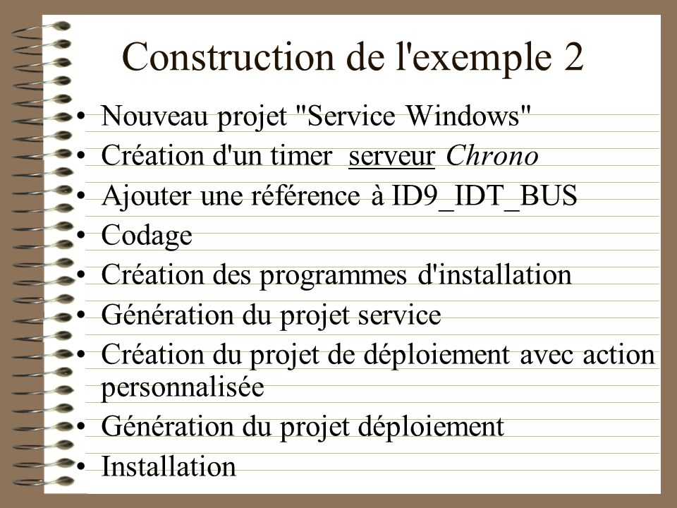 Construction de l exemple 2