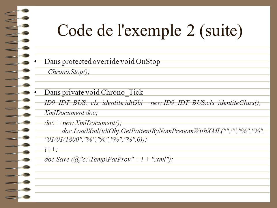 Code de l exemple 2 (suite)