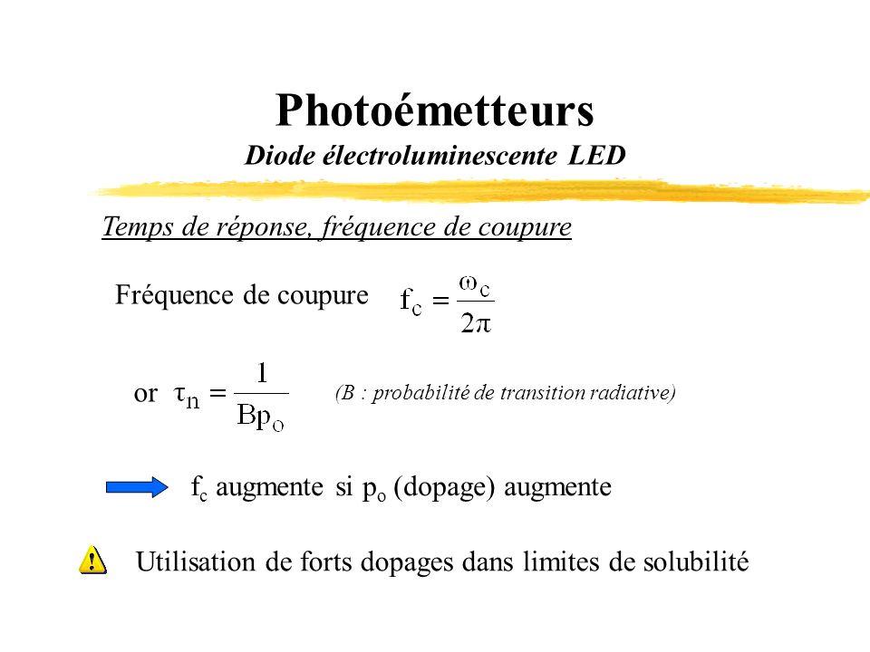 Photoémetteurs Diode électroluminescente LED