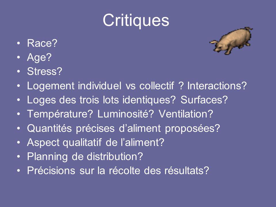 Critiques Race Age Stress