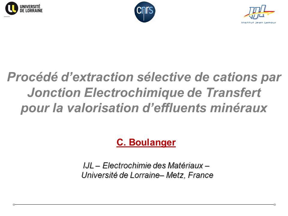 pour la valorisation d'effluents minéraux