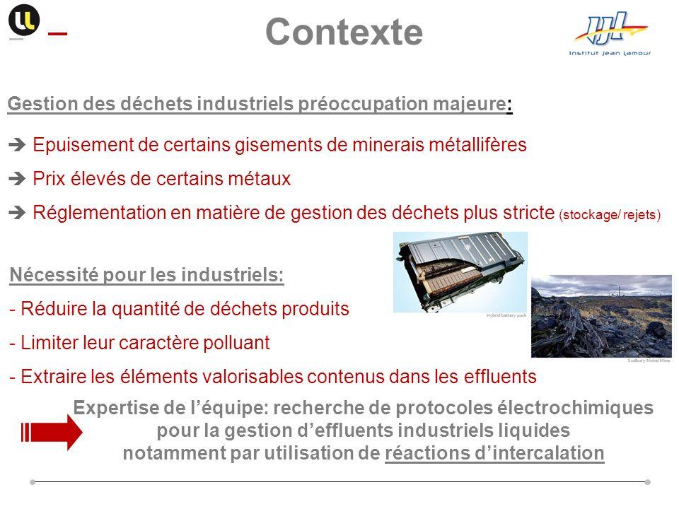 Contexte Gestion des déchets industriels préoccupation majeure:
