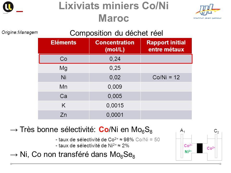 Lixiviats miniers Co/Ni Maroc