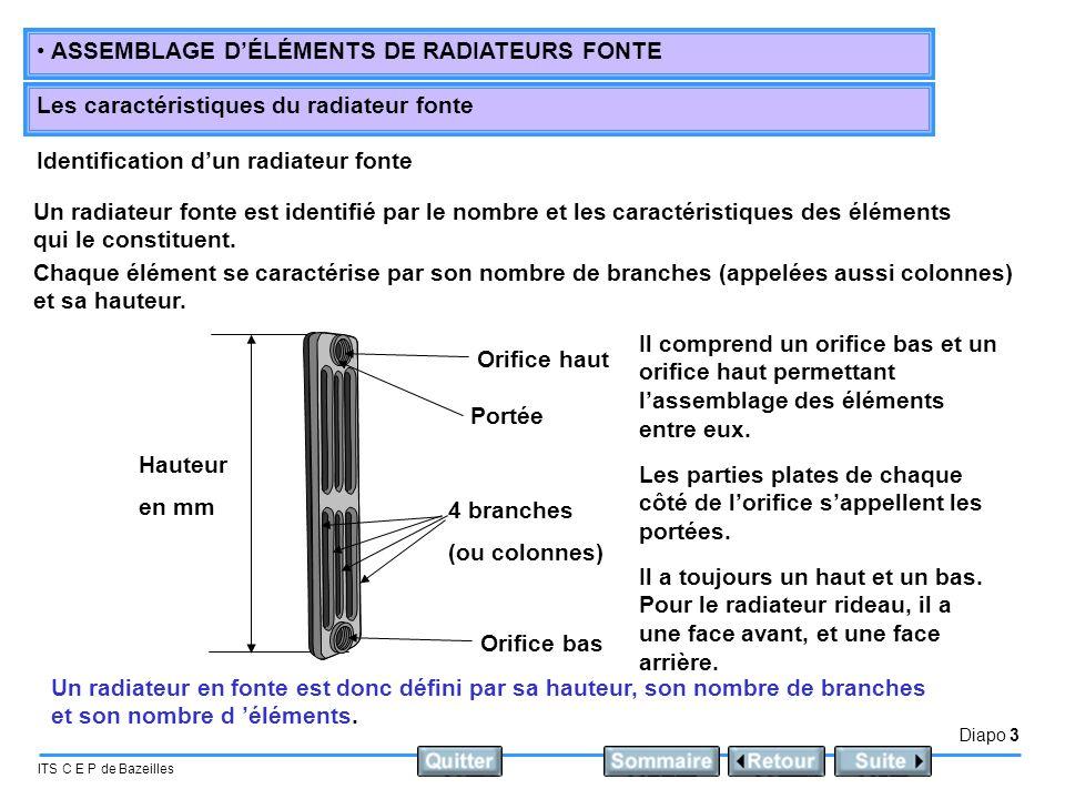 Identification d'un radiateur fonte